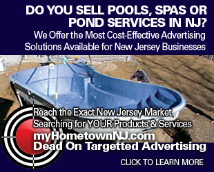 Advertising Opportunities for Pool, Pond and Spa Sales and Services throughout New Jersey