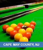 Pool and Billiards Halls In Cape May County, NJ